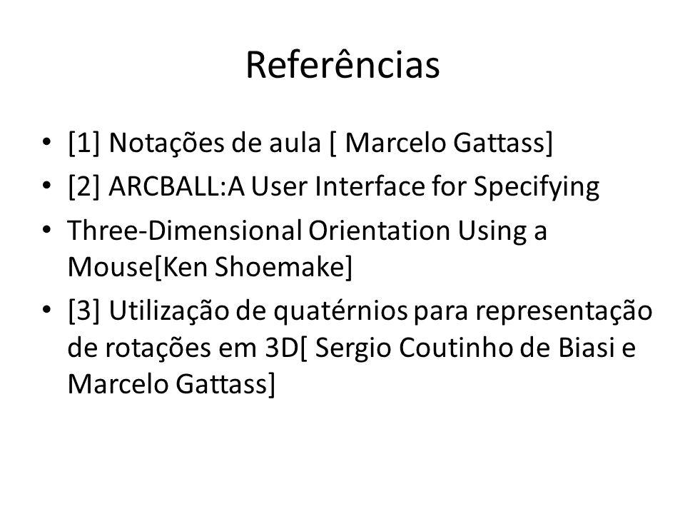 Referências [1] Notações de aula [ Marcelo Gattass]